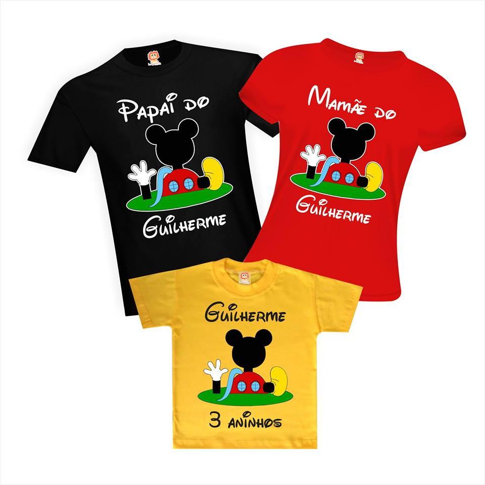 Camisetas Aniversário Personalizadas Festa Casa do Mickey