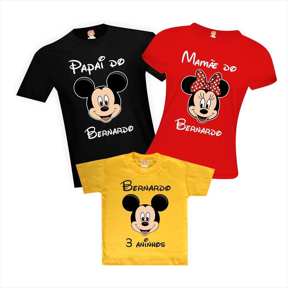 Camisetas Aniversário Personalizadas Rostinho do Mickey