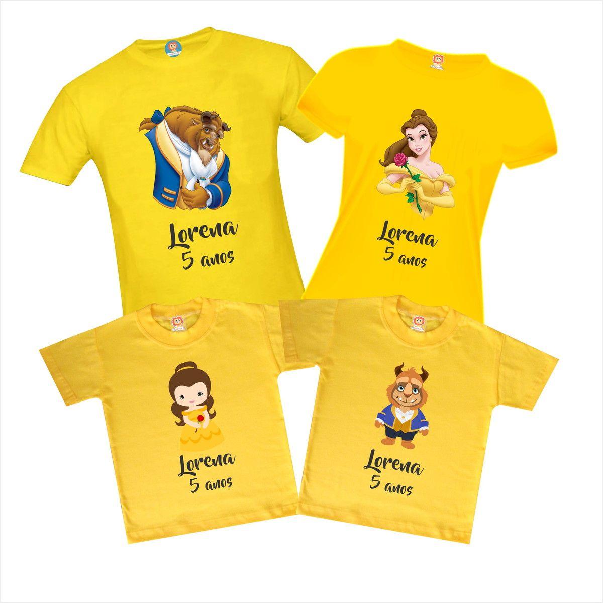 Camisetas de Aniversário A Bela e a Fera