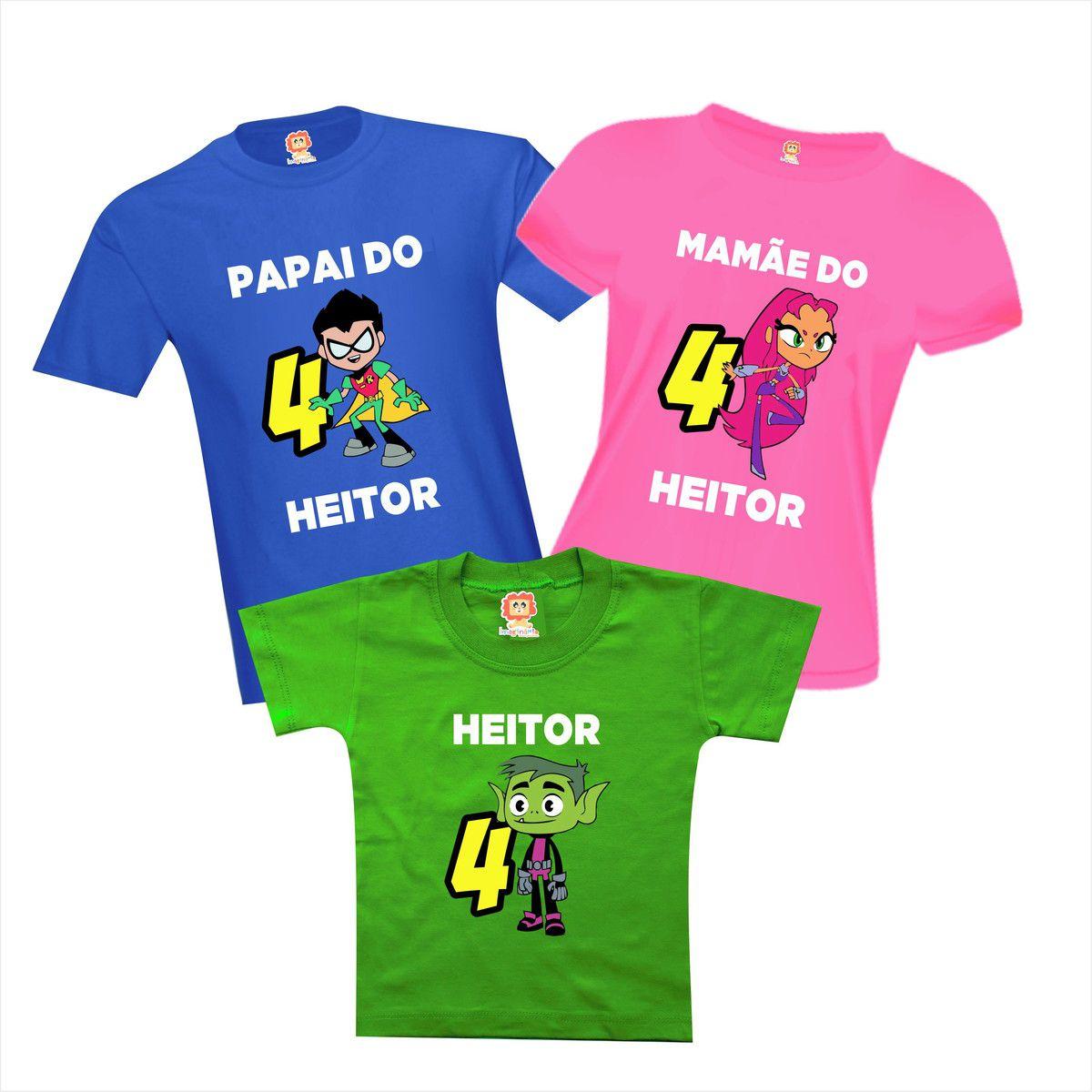 Camisetas de Aniversário Jovens Titãs