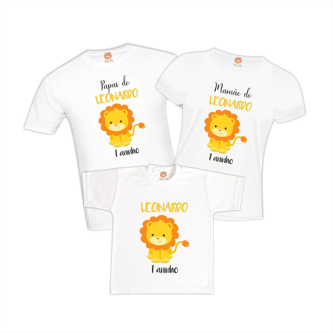 Camisetas de Aniversário Leãozinho