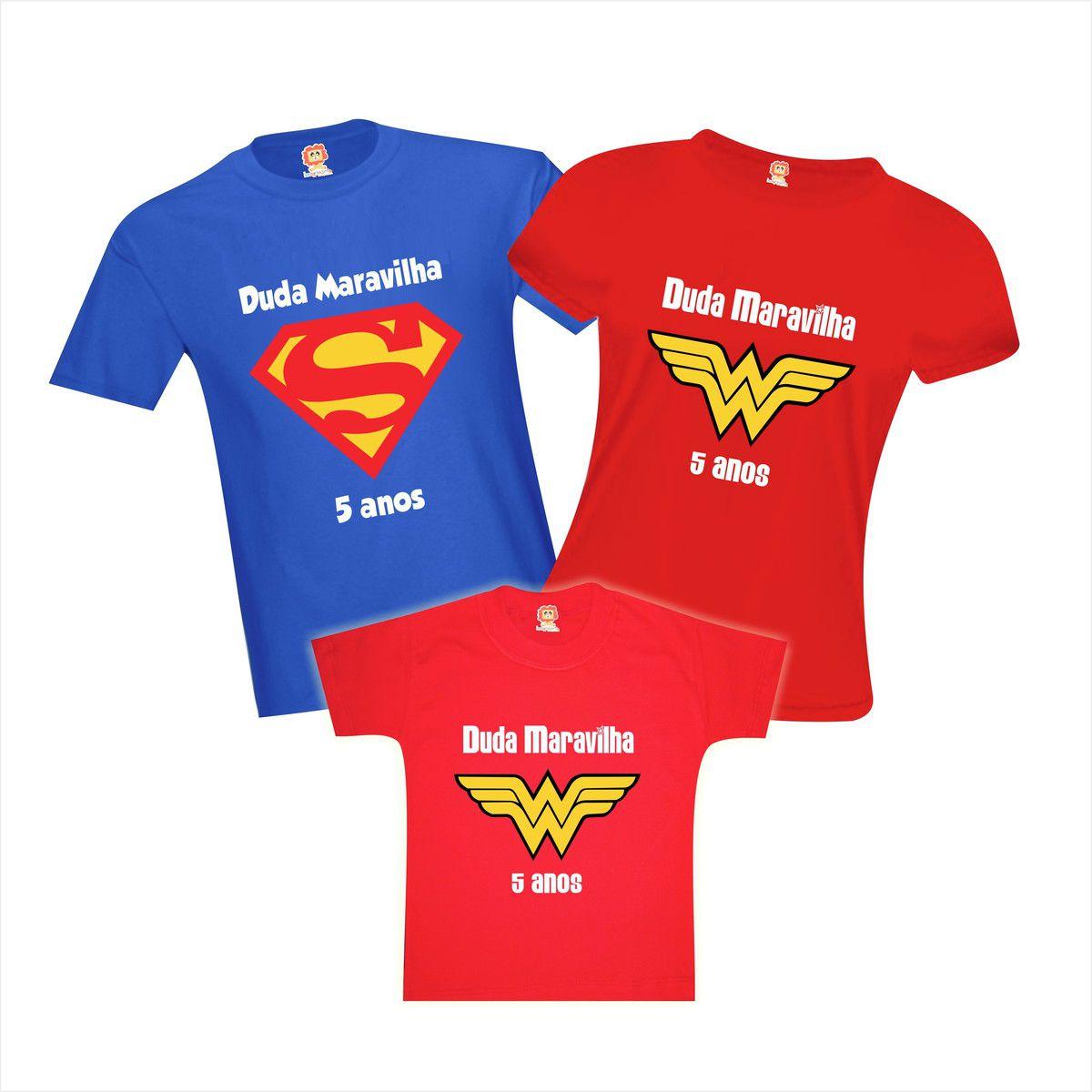 Camisetas de Aniversário Mulher Maravilha