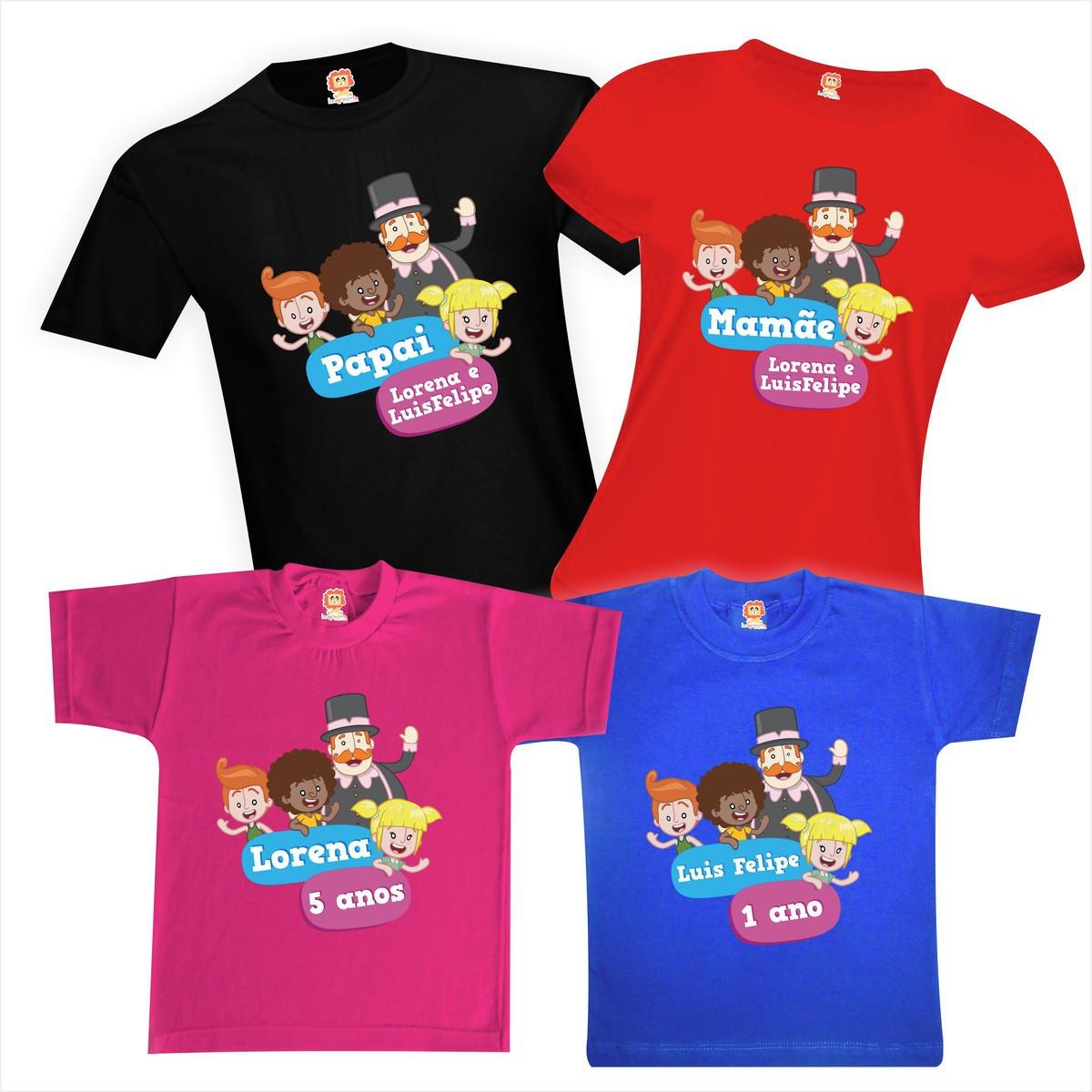 Camisetas de Aniversário Mundo Bita Festa Personalizada