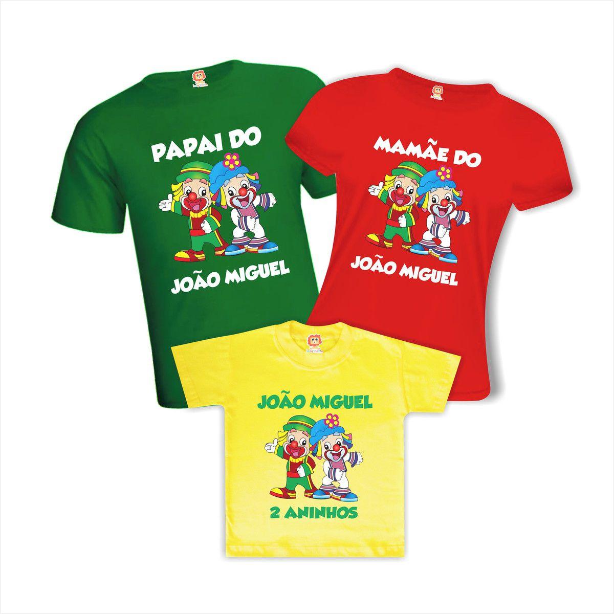 Camisetas de Aniversário Patati e Patata Personalizadas Com Nome