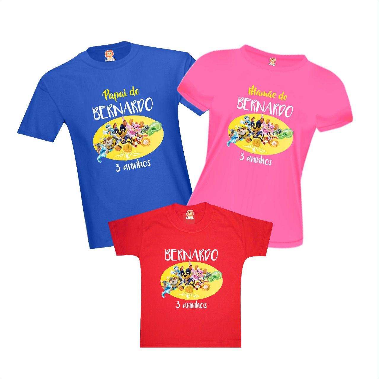 Camisetas de Aniversário Super Filhotes Patrulha Canina Paw Patrol