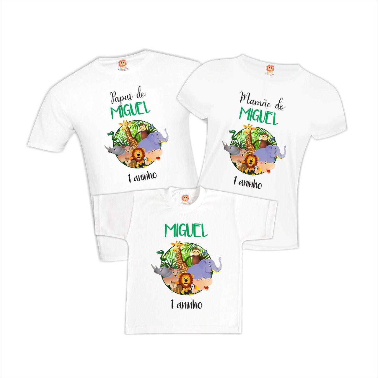 Camisetas de Aniversário Selva Floresta