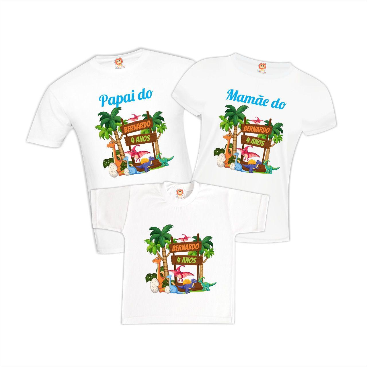 Camisetas de Aniversário Tema Dinossauros