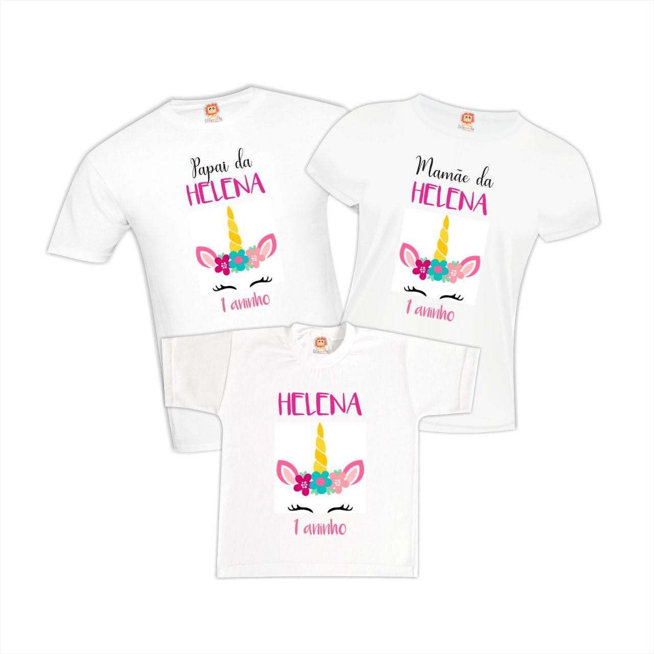 Camisetas de Aniversário Tema Unicórnio