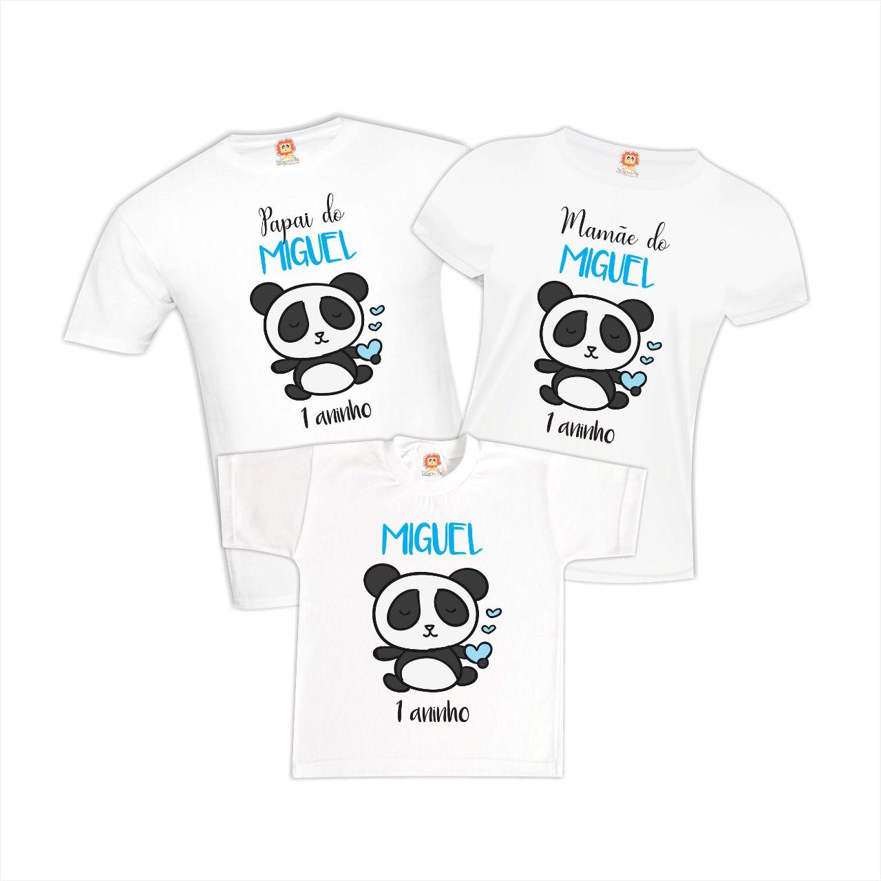 Camisetas de Aniversário Urso Panda