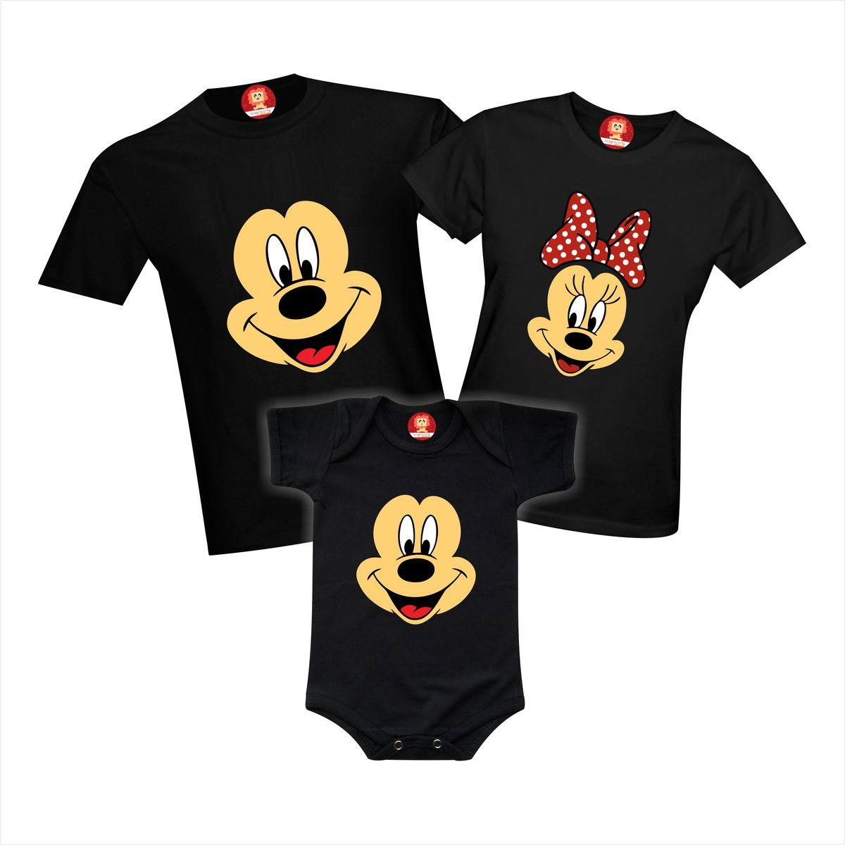 Camisetas Disney MIckey e Minnie Família