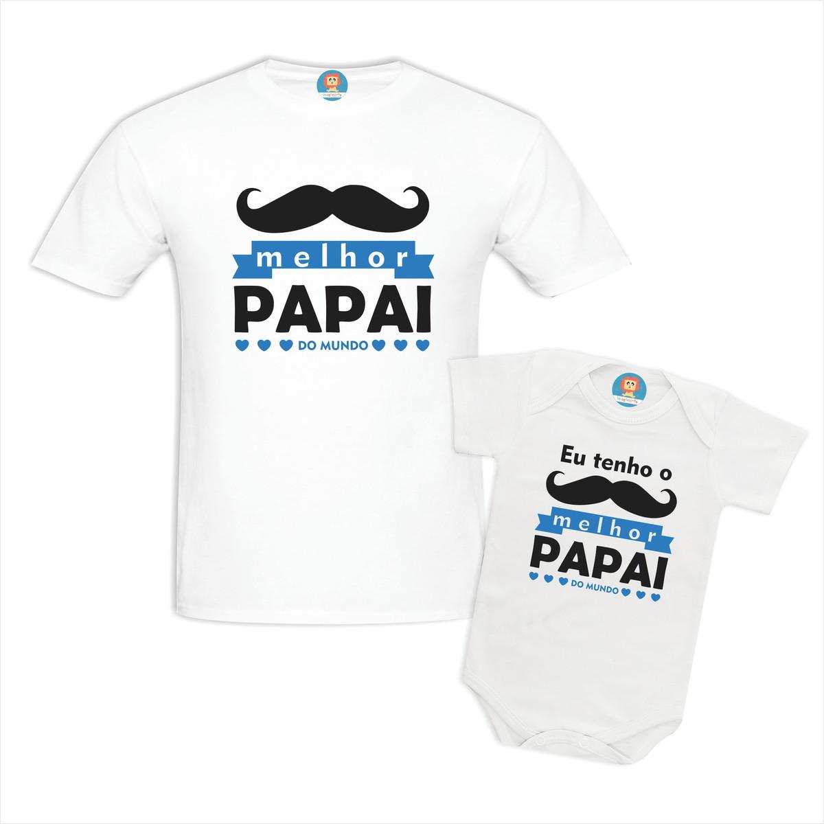 Camisetas Eu Tenho o Melhor Papai do Mundo - Branco
