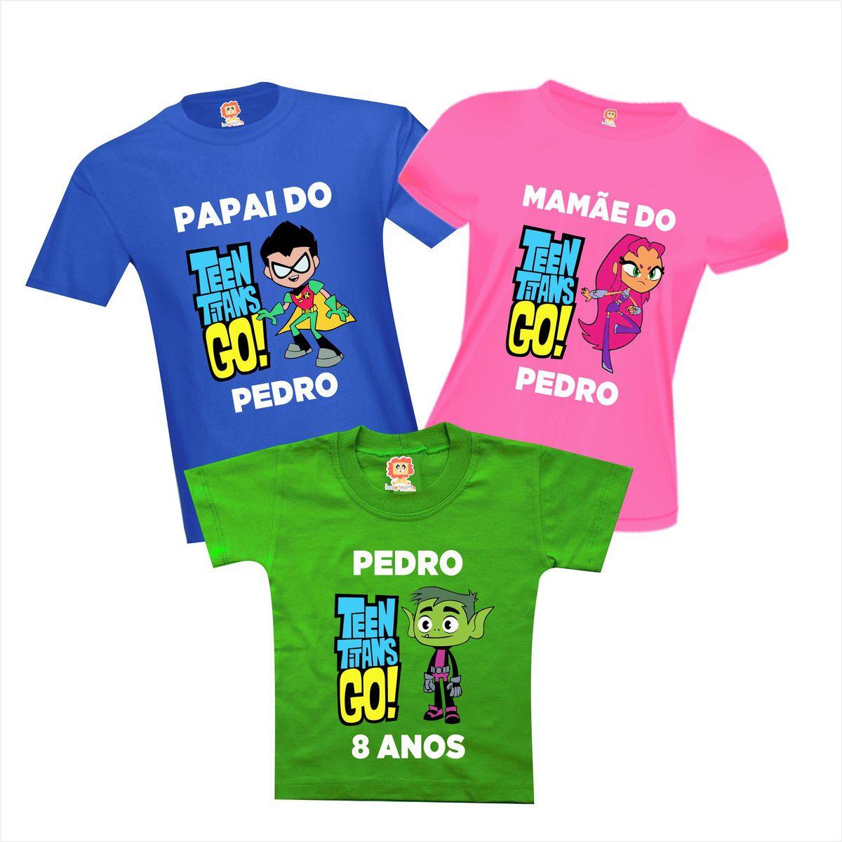 Camisetas Festa Jovens Titãs em Ação
