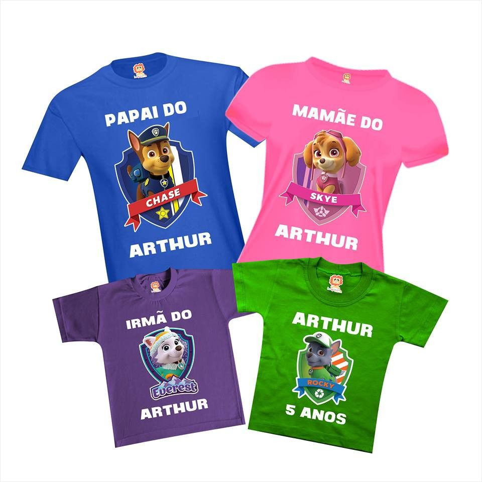Camisetas Festa Patrulha Canina