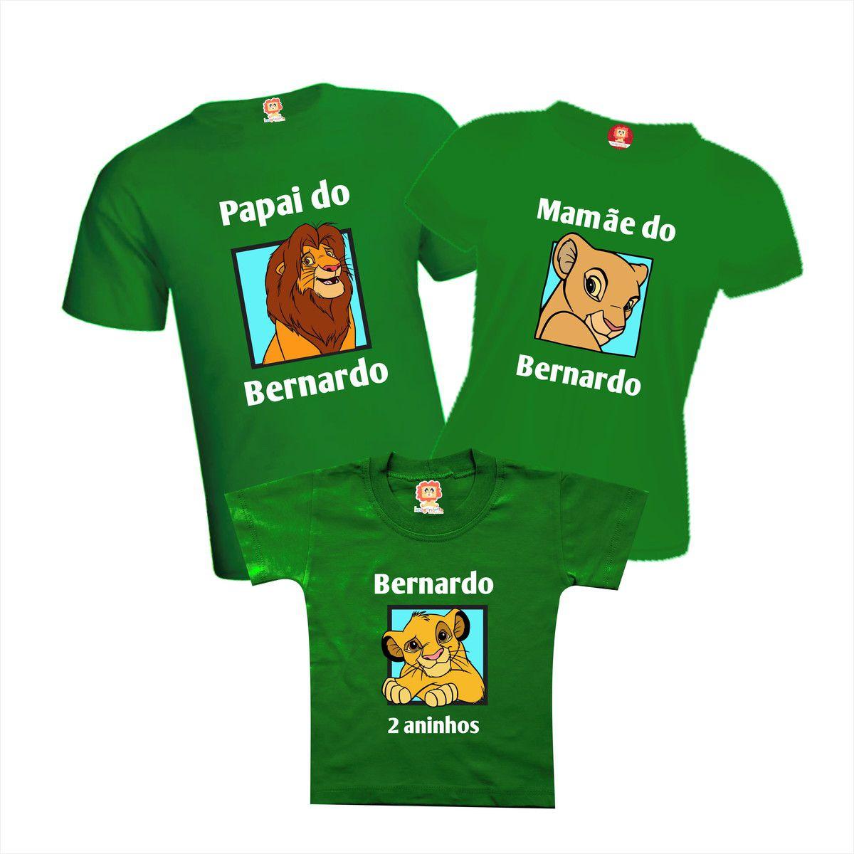 Camisetas Festa Rei Leão ou Guarda do Leão