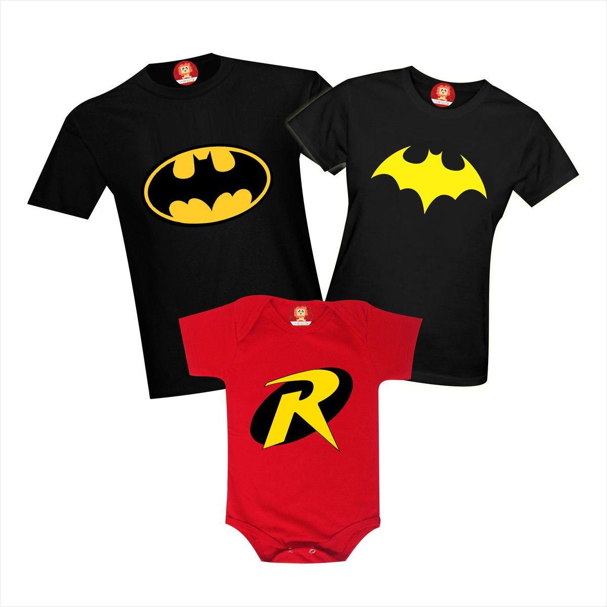 Camisetas Heróis Família