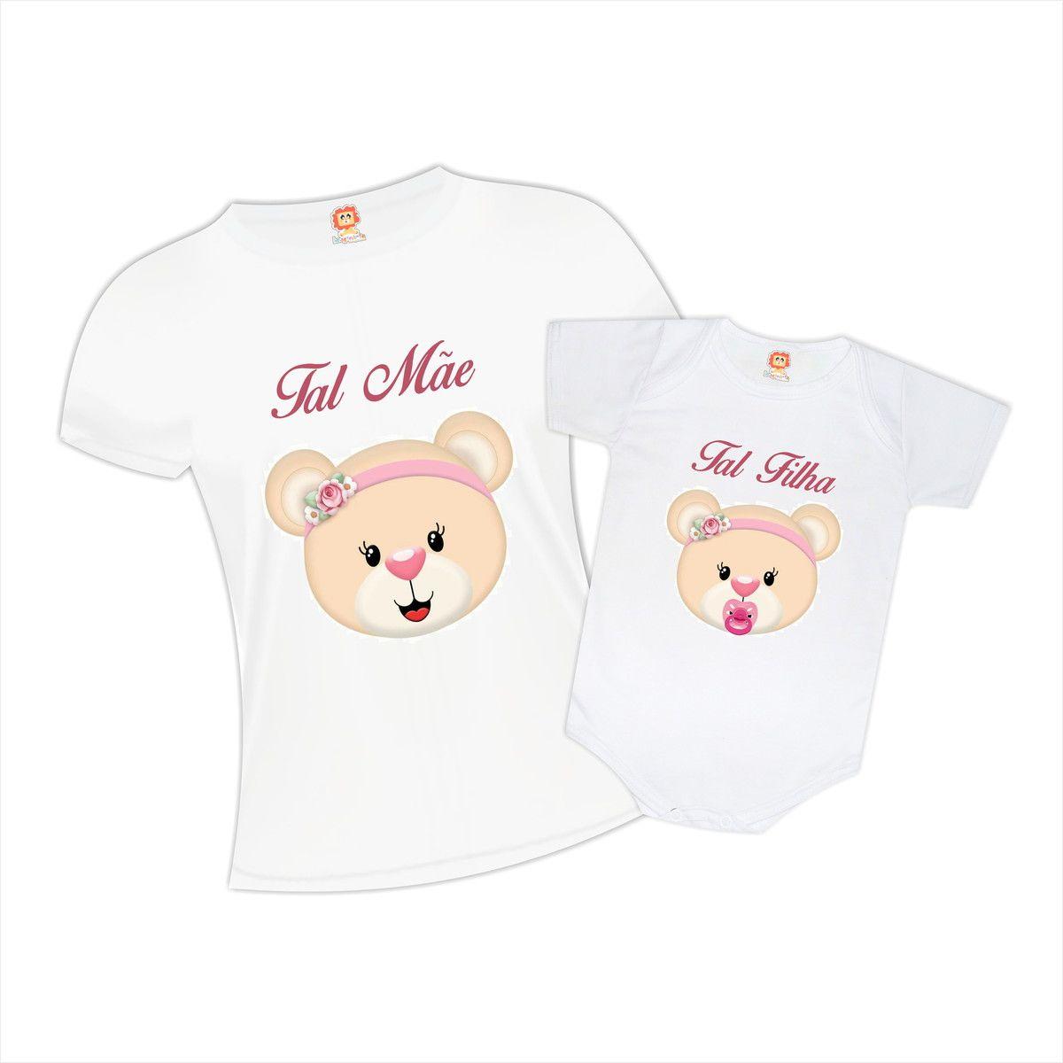Camisetas Mãe e Filha Ursinhas