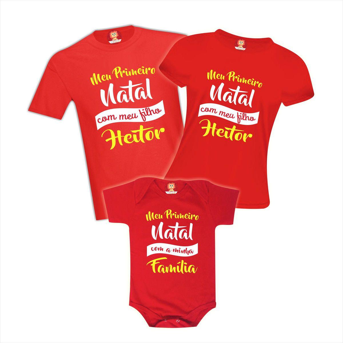 Camisetas Meu Primeiro Natal Com Meu Filho