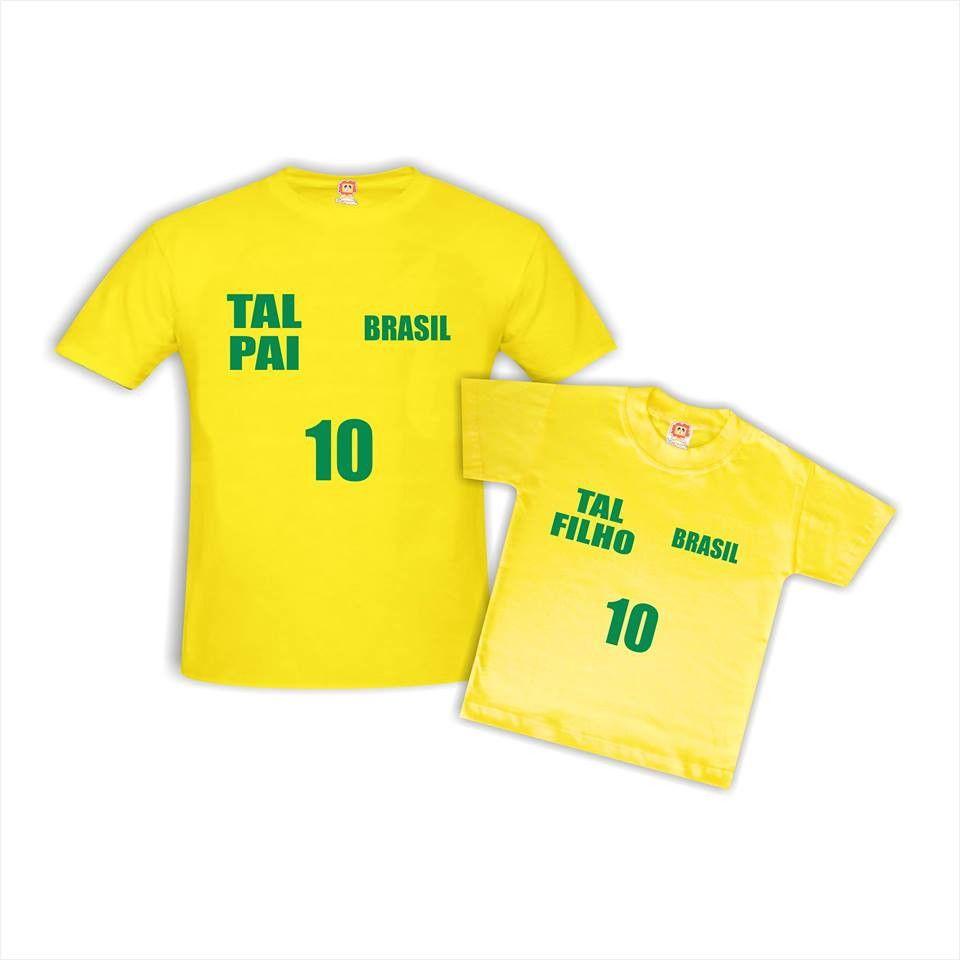 Camisetas Pai e Filho(a) Brasil