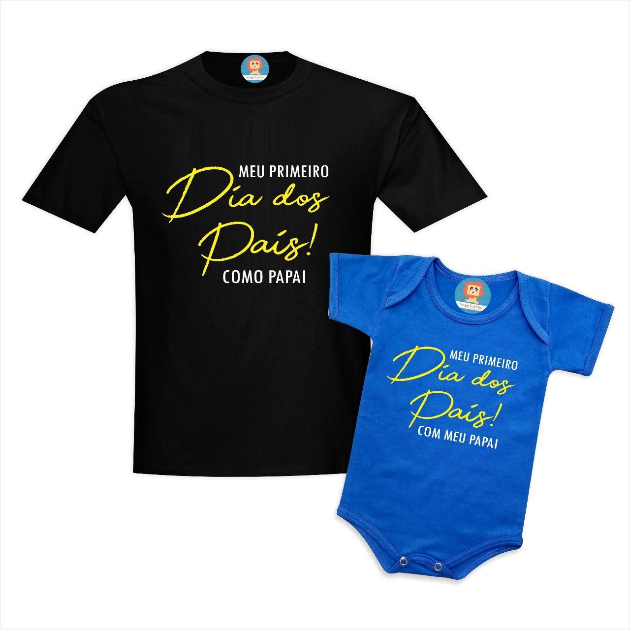 Camisetas Pai e Filho Primeiro Dia dos Pais