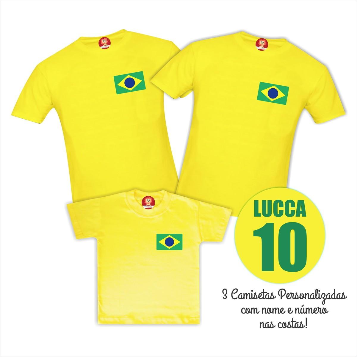 Camisetas Personalizadas com Nome Copa do Mundo Brasil