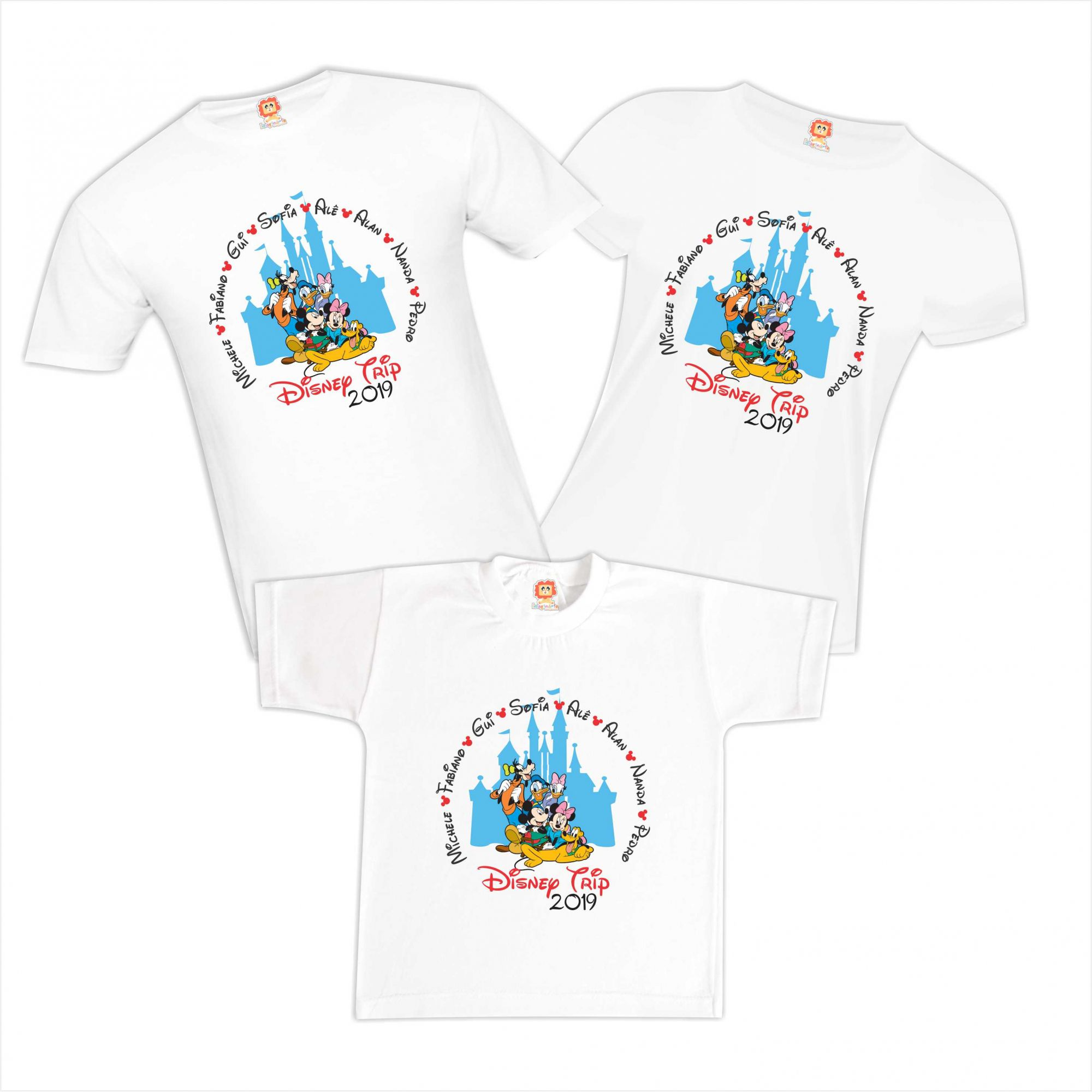 Camisetas Personalizadas Disney Turma do Mickey e Minnie Disney Orlando