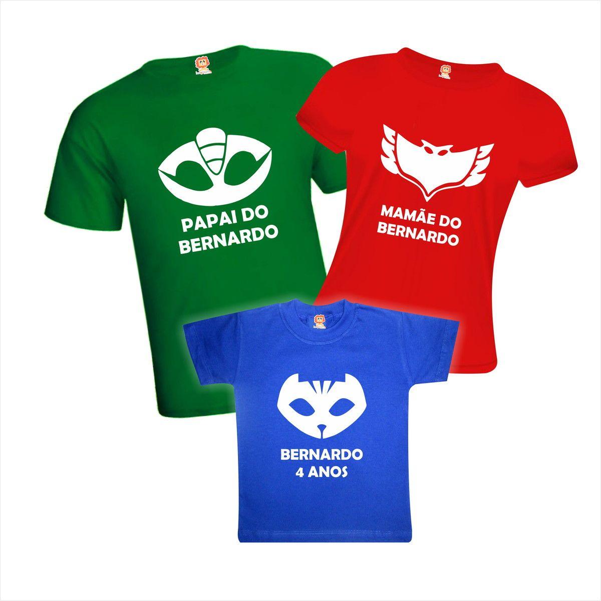 Camisetas PJ Masks Aniversário