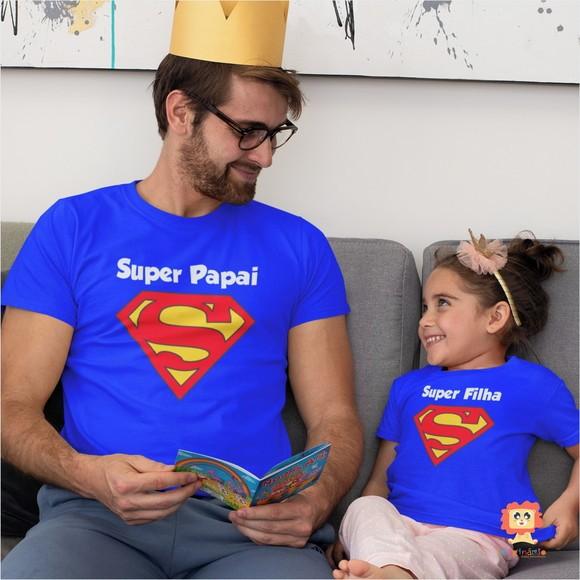 Camisetas Super Papai e Super Filho(a)