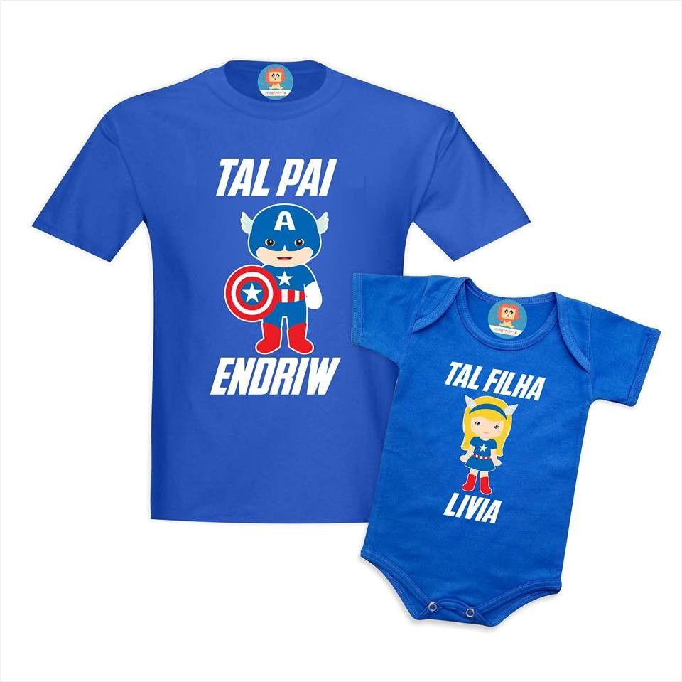 Camisetas Tal Pai Tal Filha Capitão América