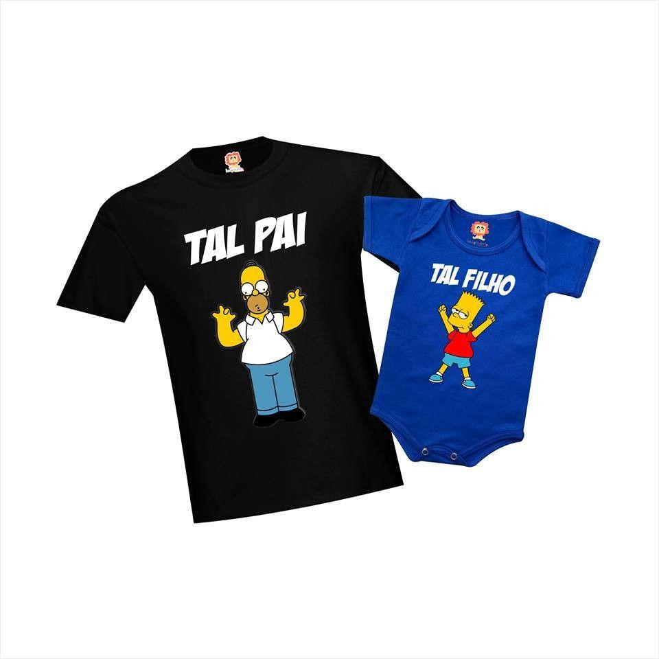 Camisetas Tal Pai Tal Filho(a) Os Simpson