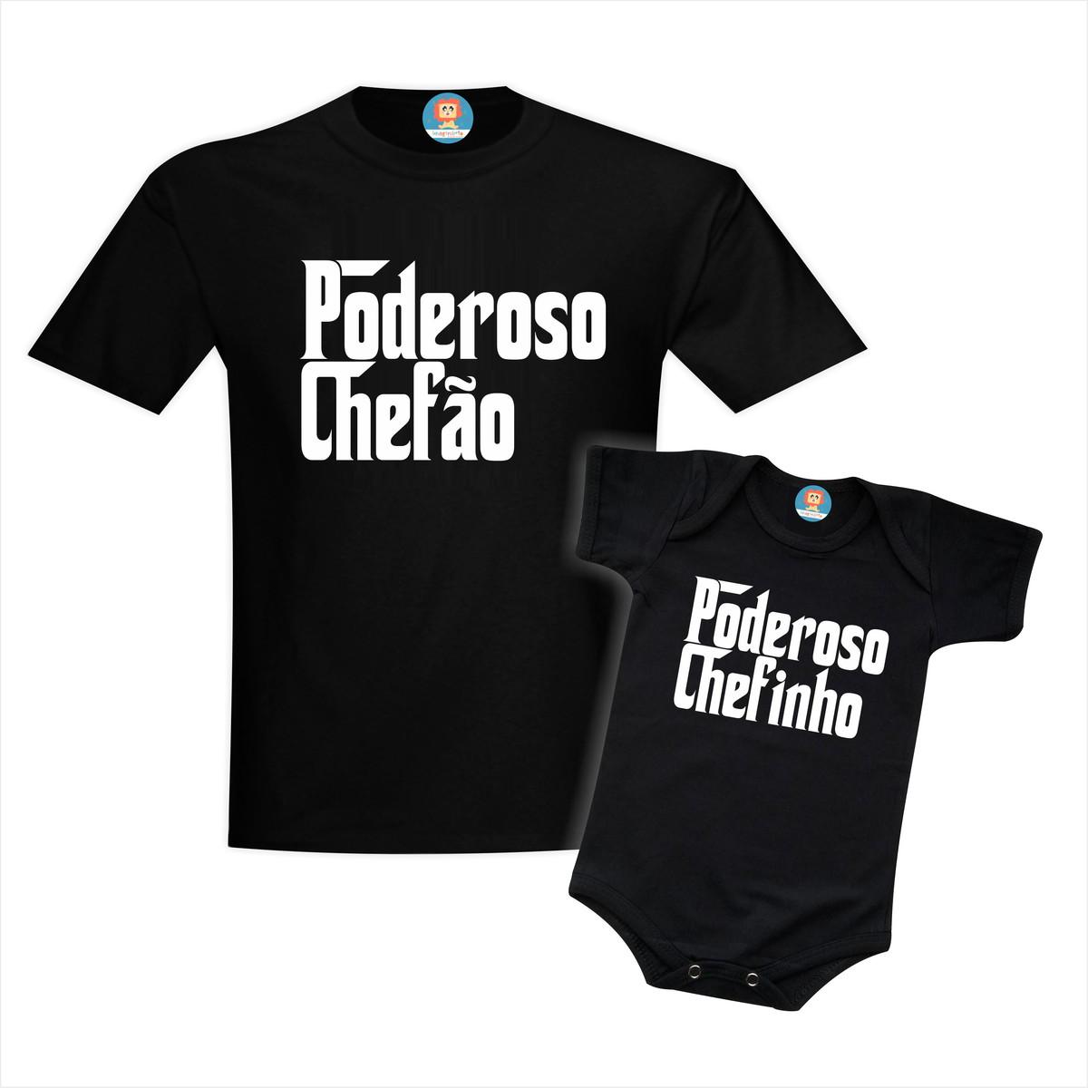 Camisetas Tal Pai Tal Filho(a) Poderoso Chefão e Chefinho(a)