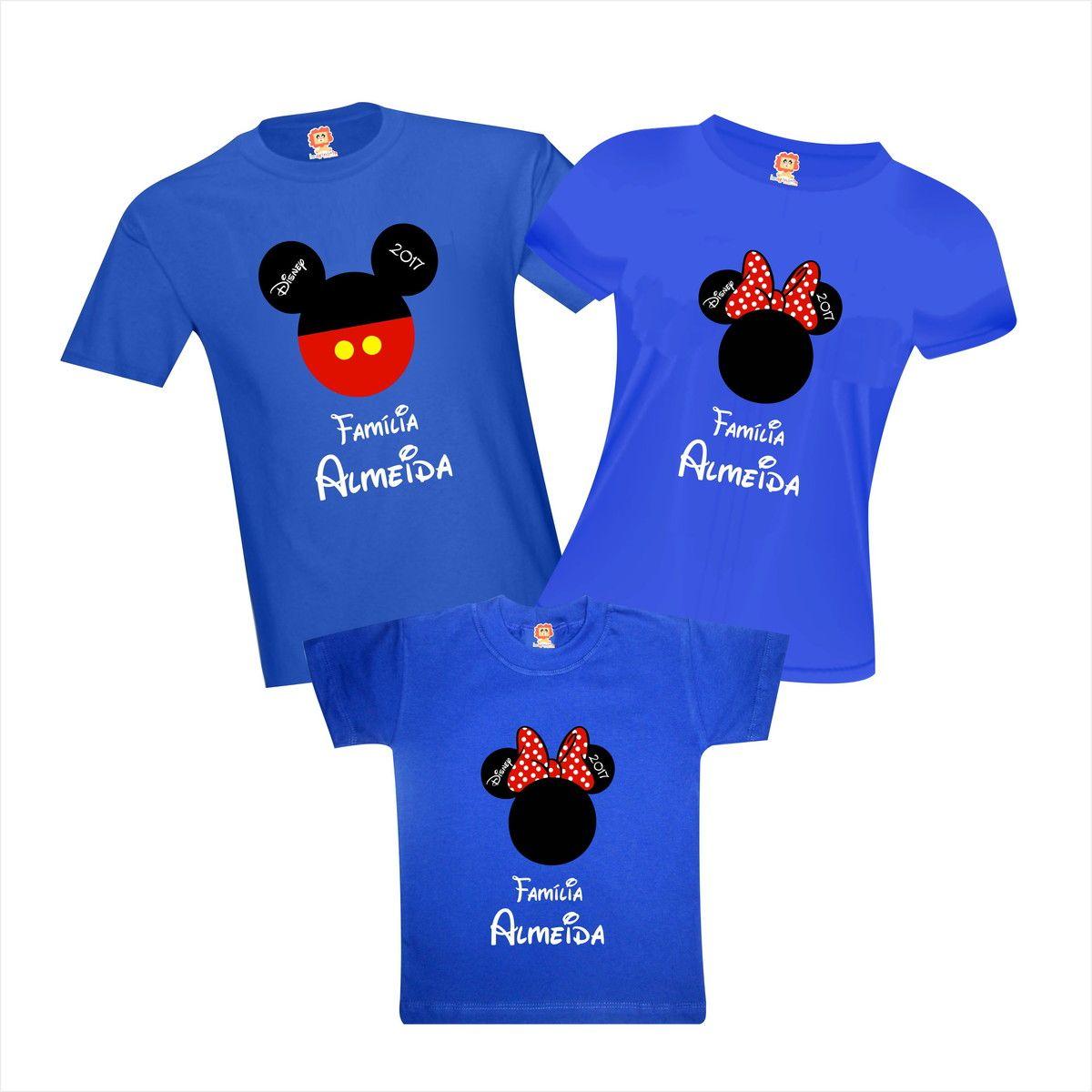 Camisetas Viagem Disney Mickey e Minnie