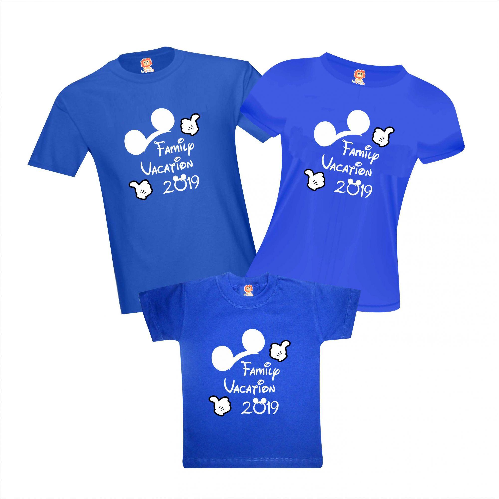 Camisetas Viagem Disney Mickey Orlando Family Vacation Personalizadas