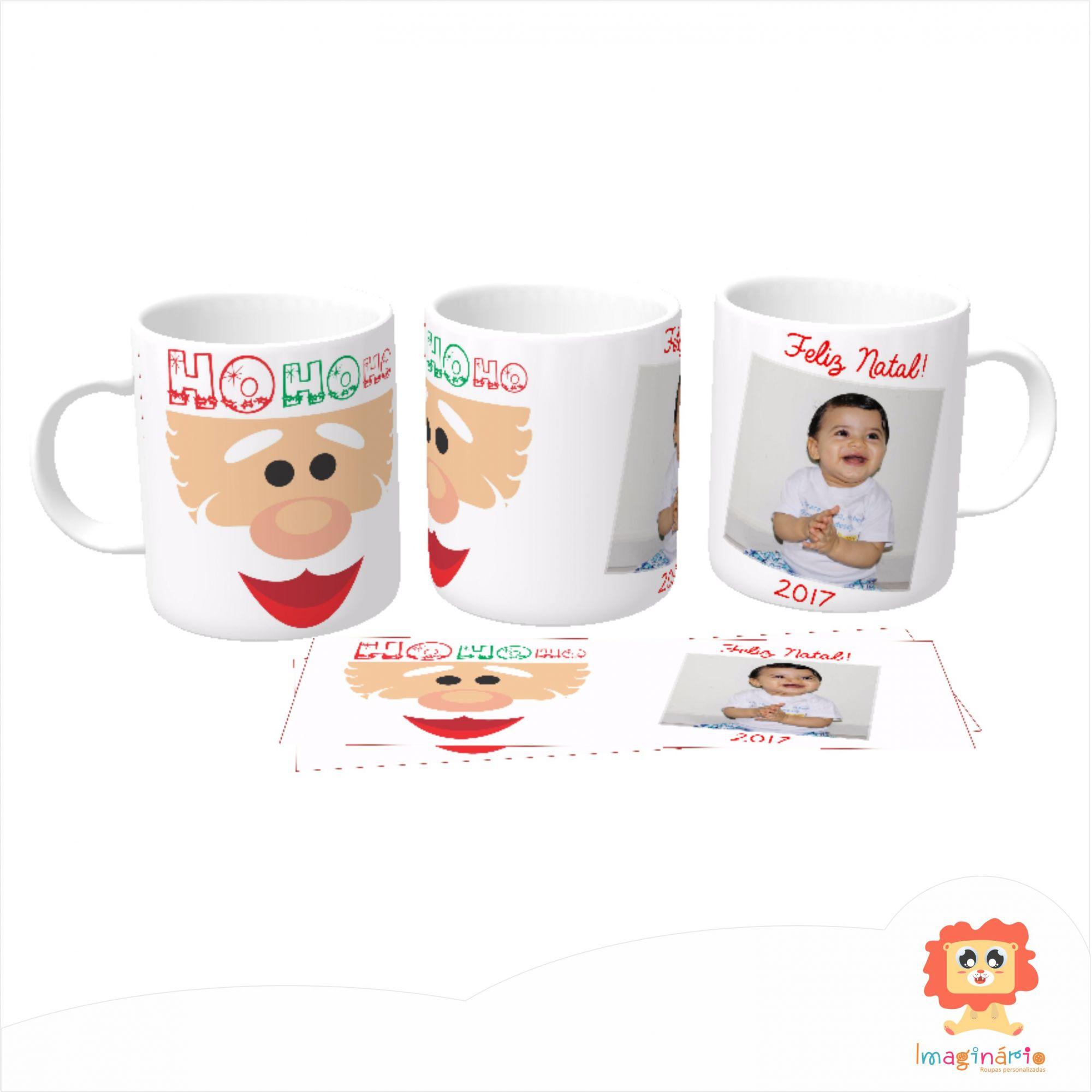 Caneca de Natal Personalizada com Foto da Criança