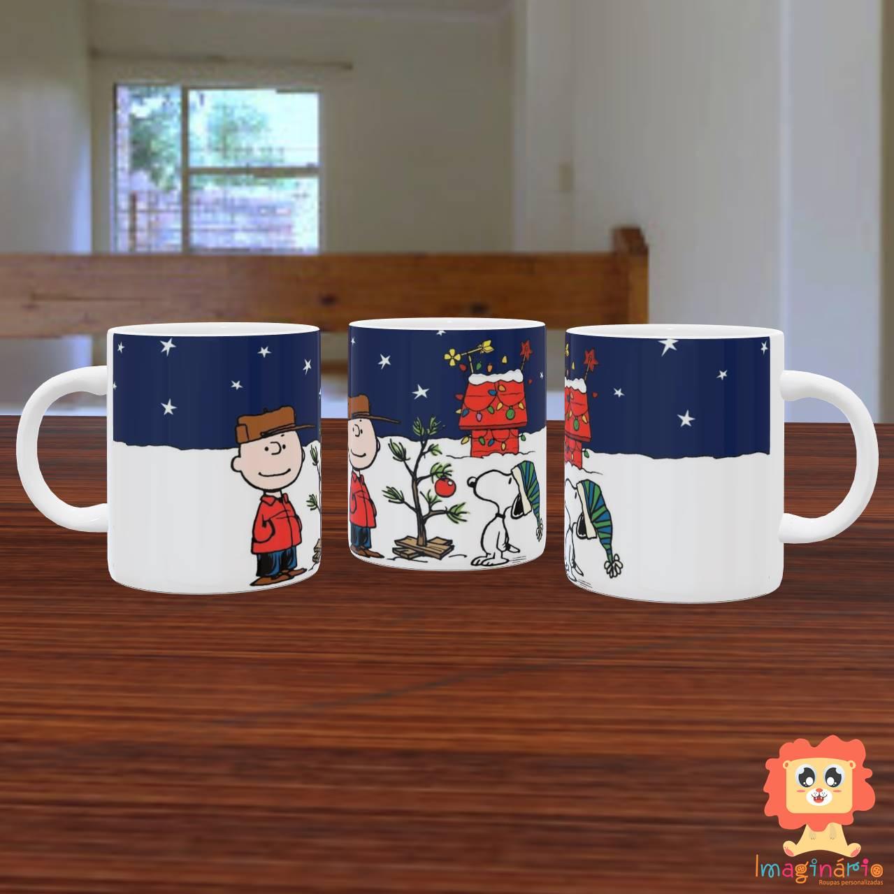 Caneca de Natal Snoopy e Charlie Brown