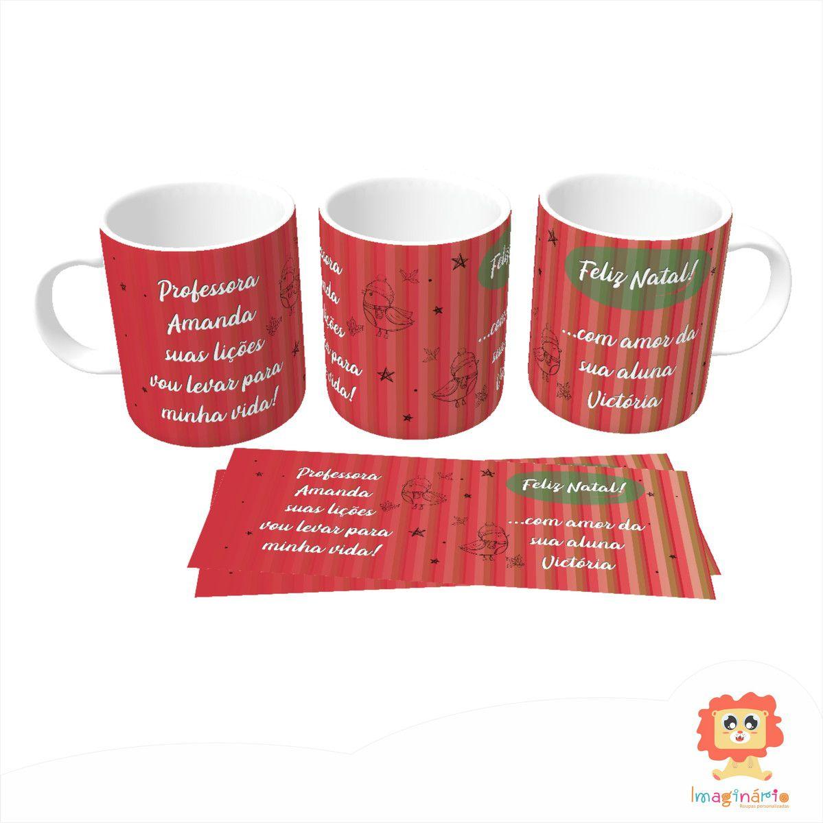 Caneca Personalizada de Natal para Professora