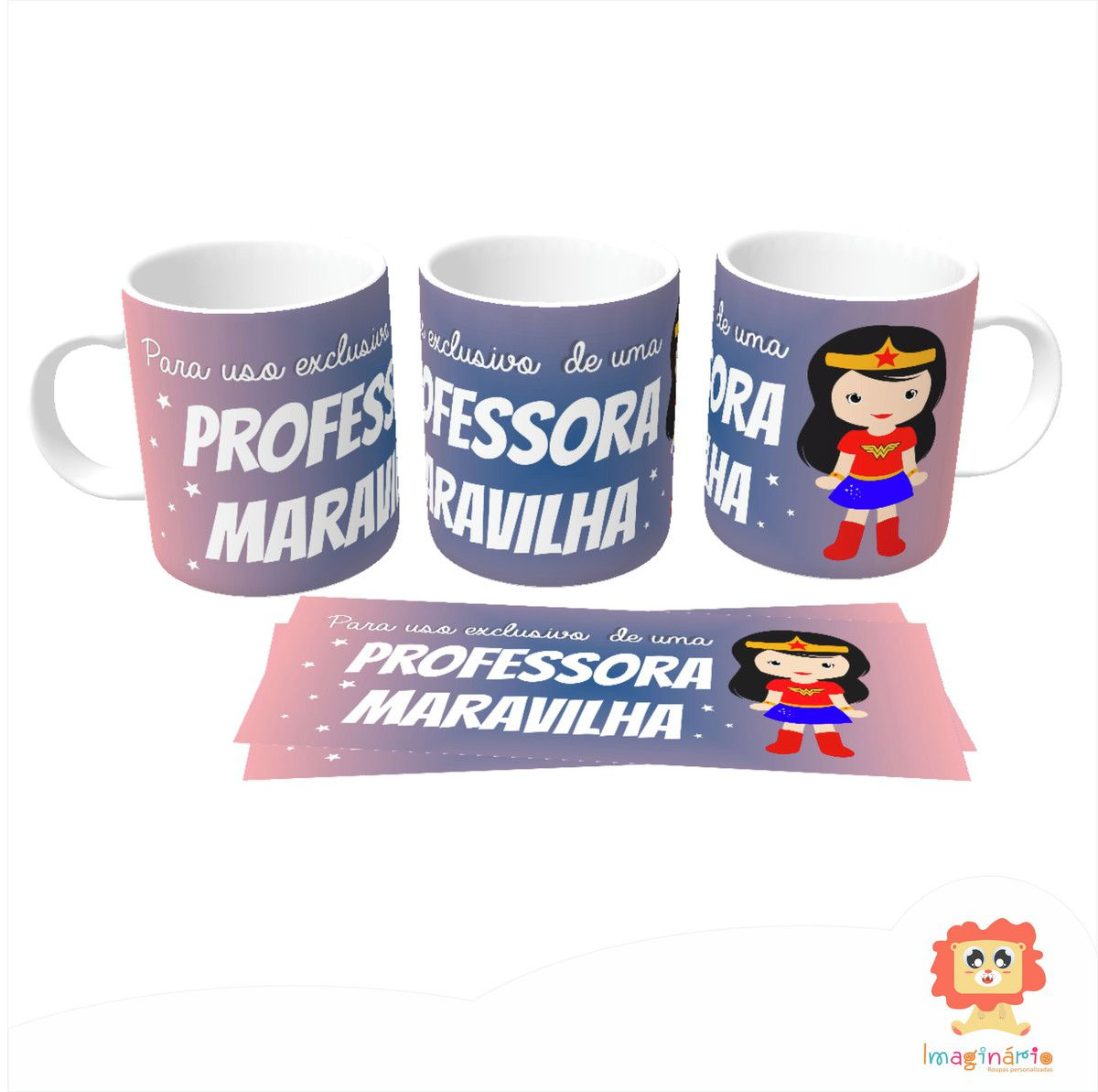 Caneca professora Maravilha