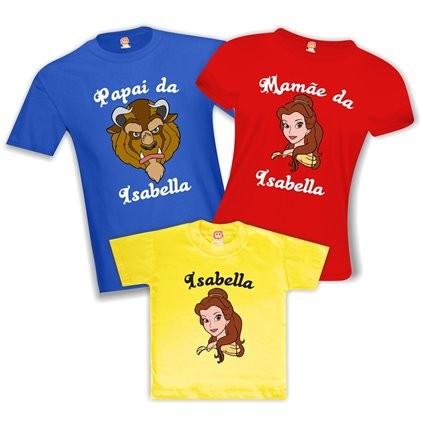 Kit Camisetas de Aniversário A Bela e a Fera