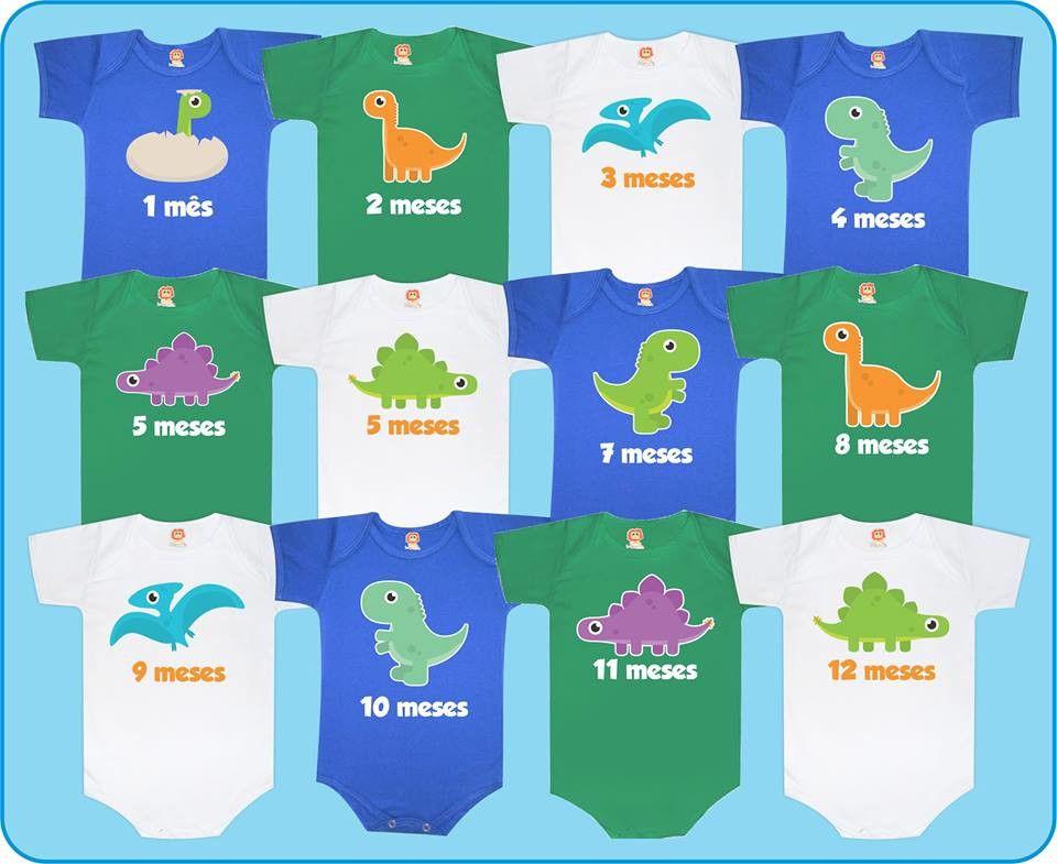 Kit Bodys Mesversário Dinossauros