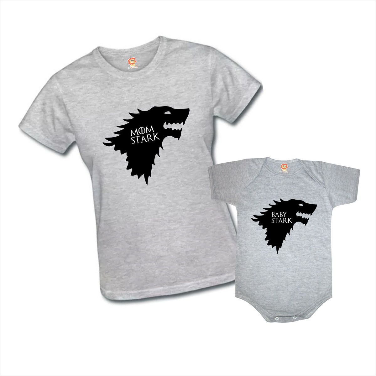 Kit Camiseta e Body Game Of Thrones Stark