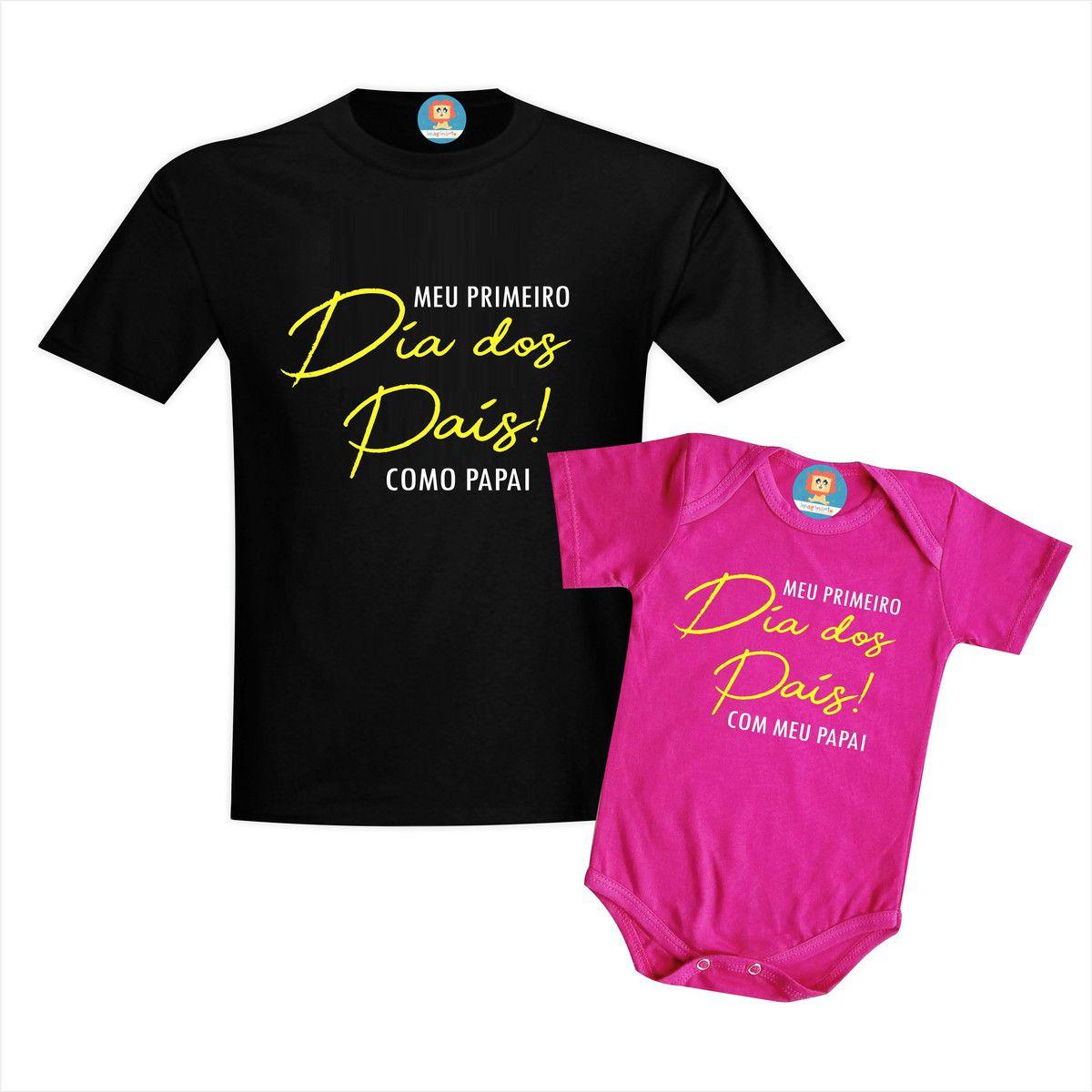 Kit Camiseta e Body Primeiro Dia dos Pais