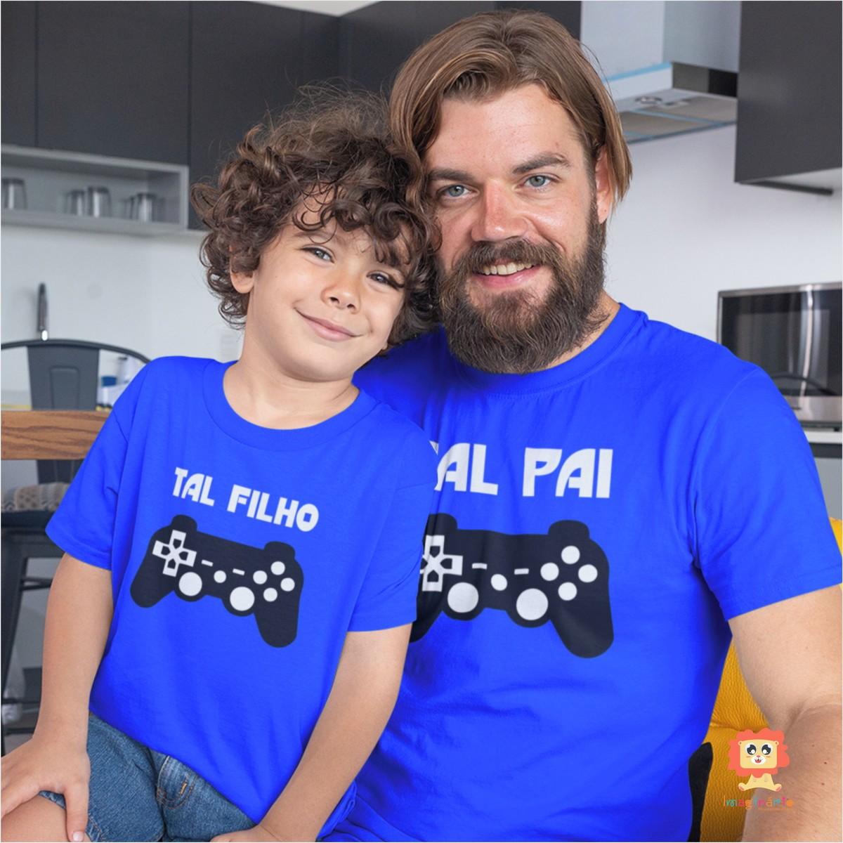 Kit Camiseta e Body Tal Pai Tal Filho Game PlayStation