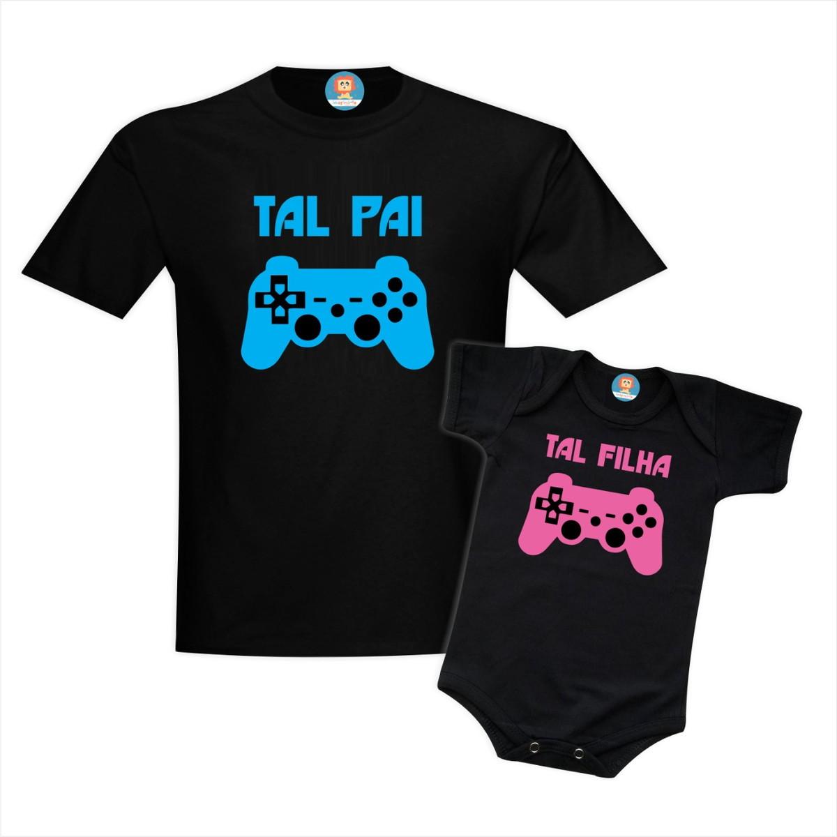 Kit Camiseta e Roupinha Infantil Controle de Vídeo Game