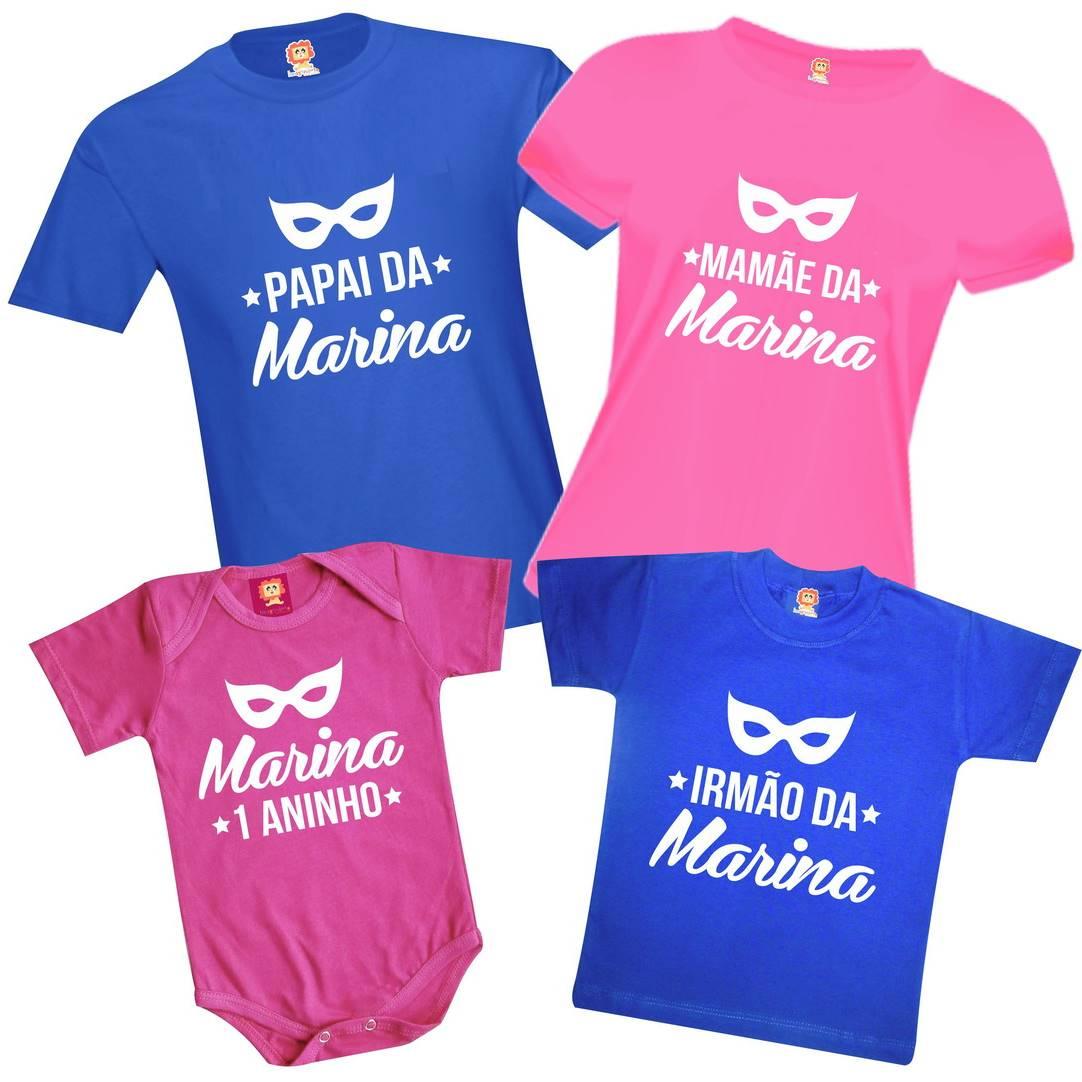 Kit Camisetas Aniversário Festa Baile de Carnaval