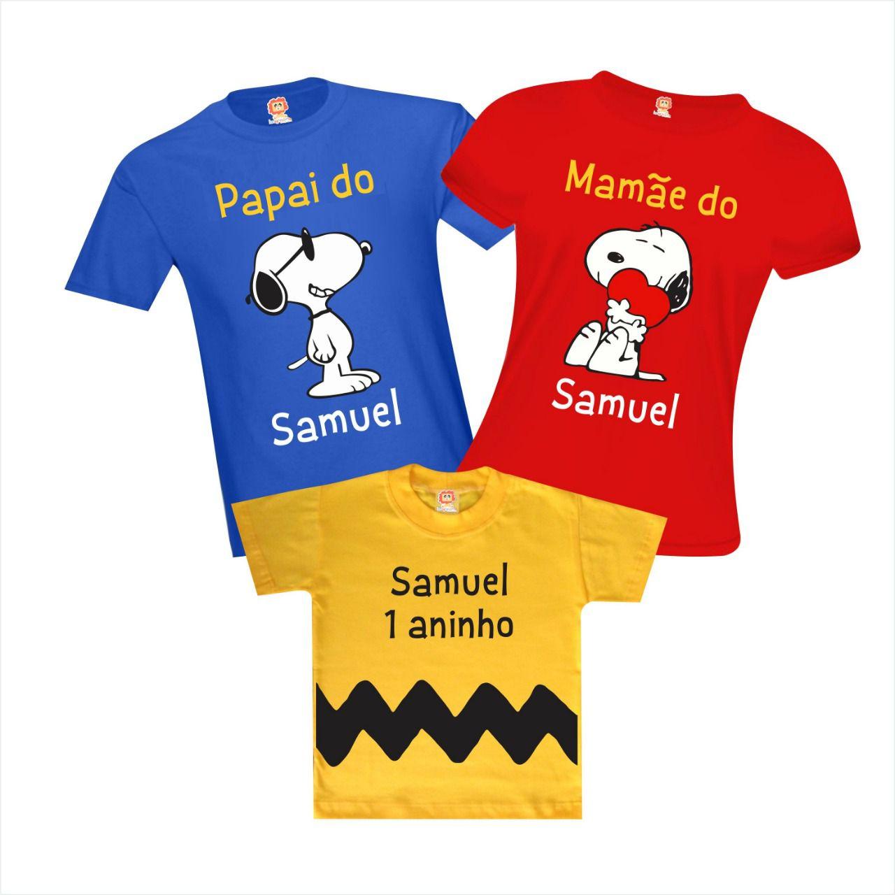 Kit Camisetas ANiversário Snoopy