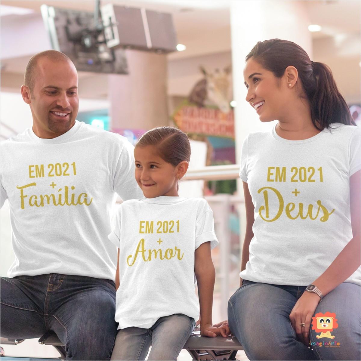 Kit Camisetas Ano Novo Em 2021 Mais Família Deus Amor