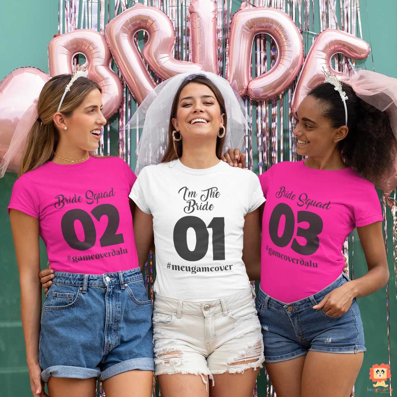 Kit Camisetas Chá da Noiva Bride Squad