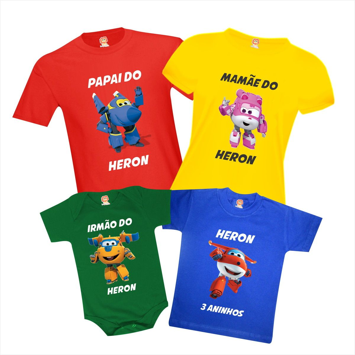 Kit Camisetas de Aniversário Super Wings