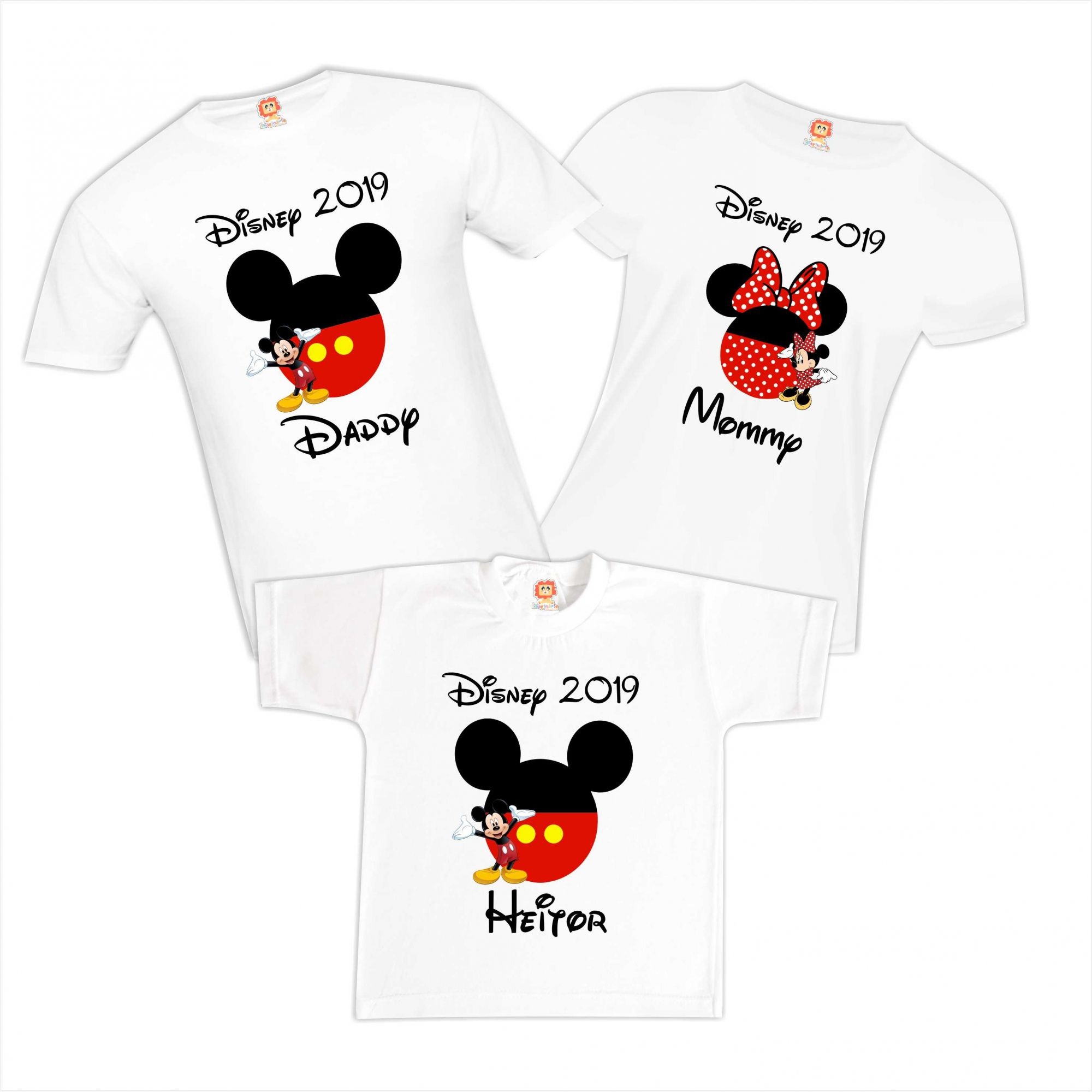 Kit Camisetas Disney Minnie e Mickey Viagem Pesronalizadas