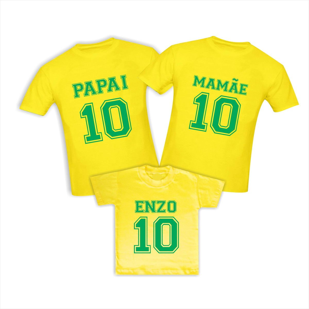 Kit Camisetas do Brasil Copa do Mundo