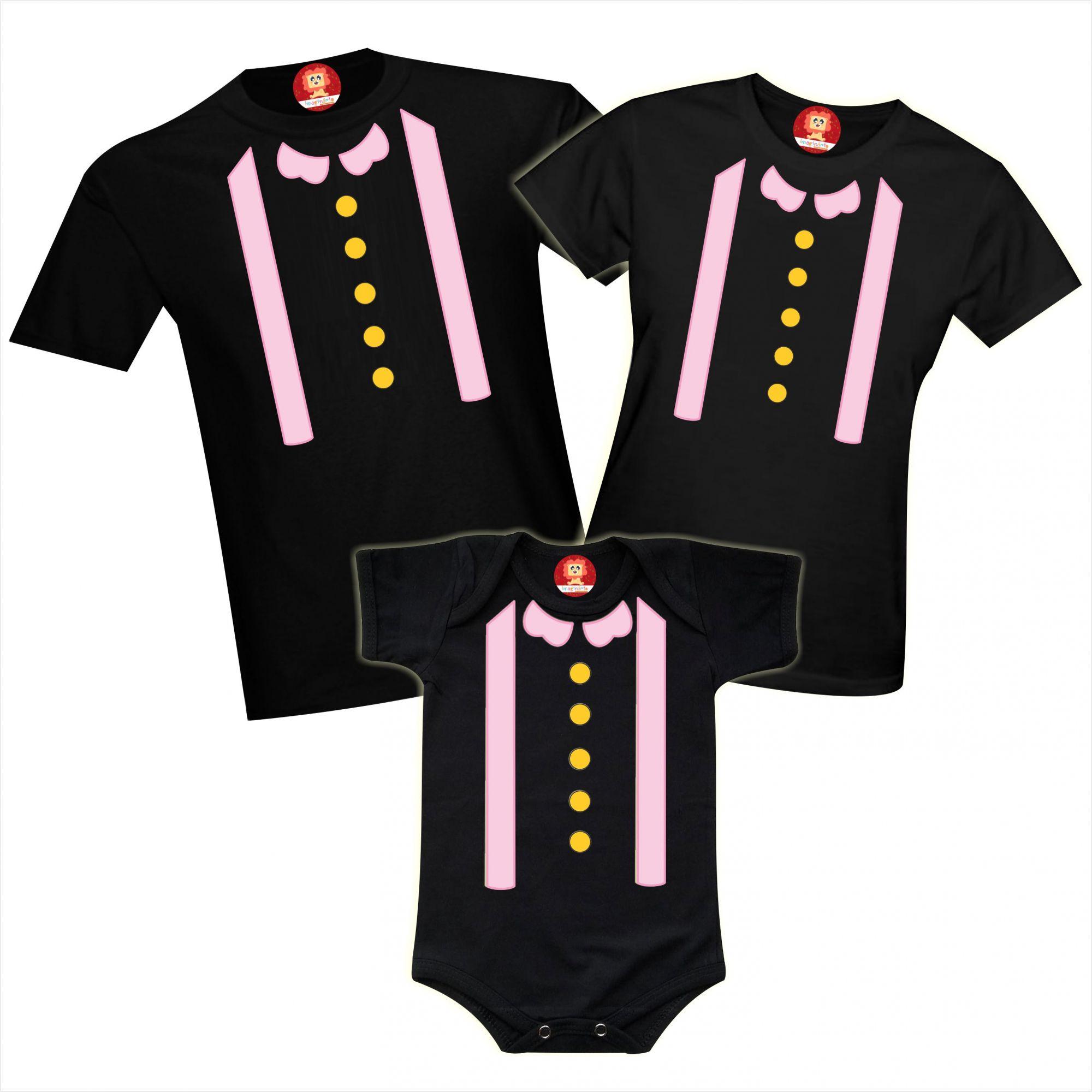 Kit Camisetas e Body de Bebê Mundo Bita Fantasia Infantil